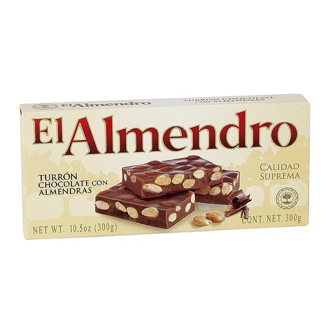 El Almendro - Turrón de Chocolate con almendras - 250 gr Calidad suprema