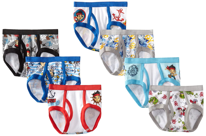 Disney boys Toddler Boys Jake 7-pack Brief Handcraft TBUP5506