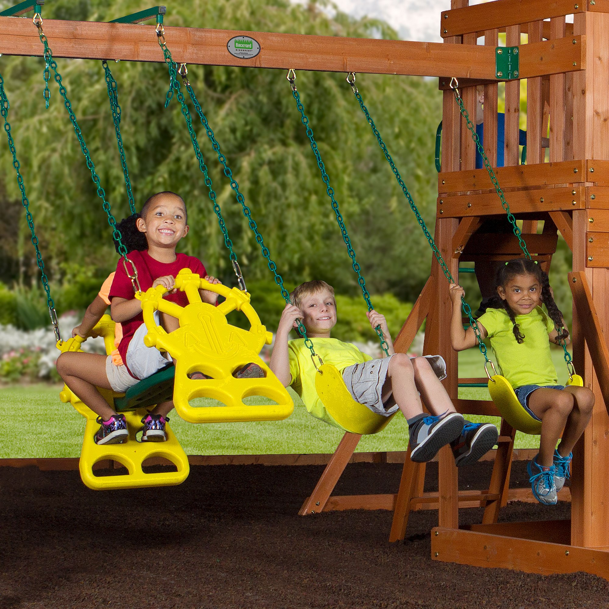 Backyard Discovery Thunder Ridge All Cedar Wood Playset Swing Set by Backyard Discovery (Image #3)