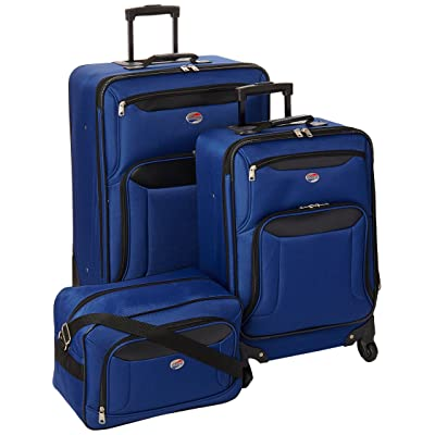American Tourister Brookfield 3 Piece Set, Navy/Black, One Size