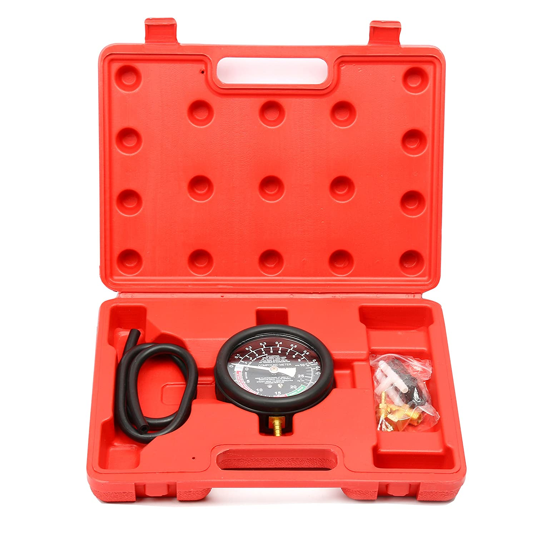 FreeTec Vakuumtester Unterdruck und Druck Tester Set Vakuum messen Benzinpumpe Drucktester Vakuum Tester freebirdtrading FT0115