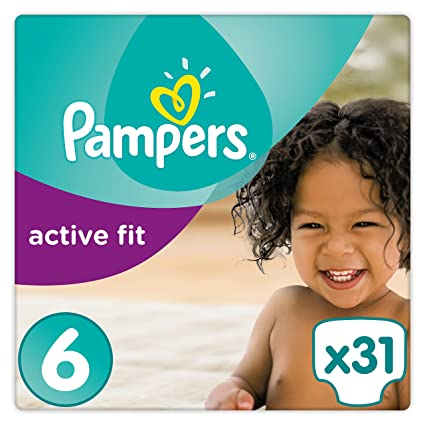 Pampers Premium Protection Active Fit - Pañales tamaño 6 extra grande (a partir de 15