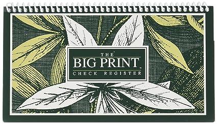 amazon com 1 large print check register and 2 large print pens