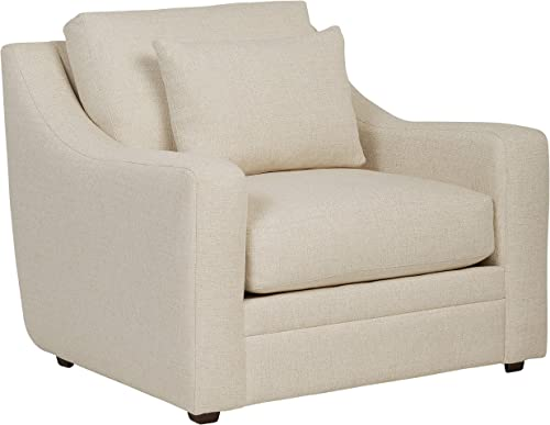 Amazon Brand Stone Beam Calhoun Living Room Accent Chair, 42 W, Ecru