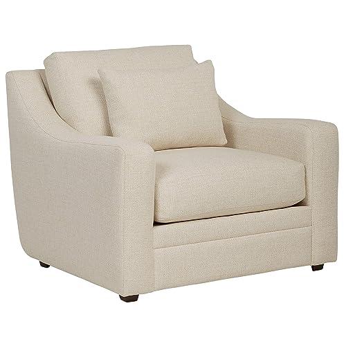 Stone Beam Calhoun Fabric Living-Room Chair, 42 W, Ecru