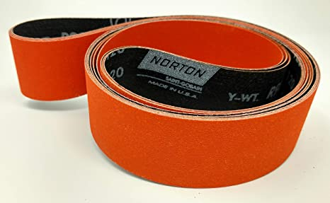 "2/"" x 72/"" Ceramic Fast Cut 120 Grit  Sanding Belts 10 Belts"