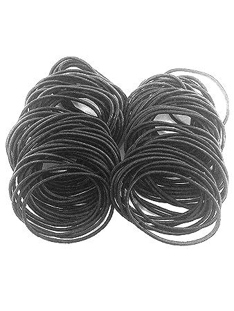 100 Piece Hair Bobbles Elastics Black Snag Free No Metal Thick Thin Multi  Buy (Thin 016fa444167