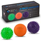 Massage Ball Roller Set - Spiky and Lacrosse Physical Therapy Balls | Pain Relief Deep Tissue Massager, Myofascial Release, Trigger Point, Plantar Fasciitis with eBook Guide and Travel Bag