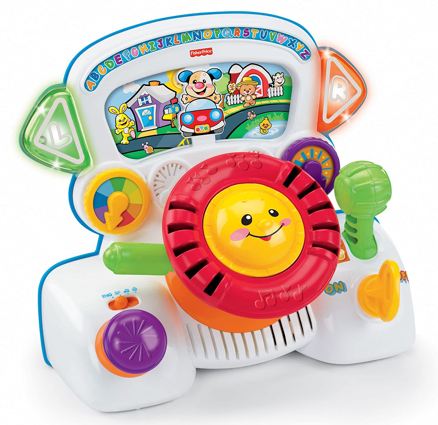 Amazon Fisher Price Laugh & Learn Rumble & Learn Driver Toys