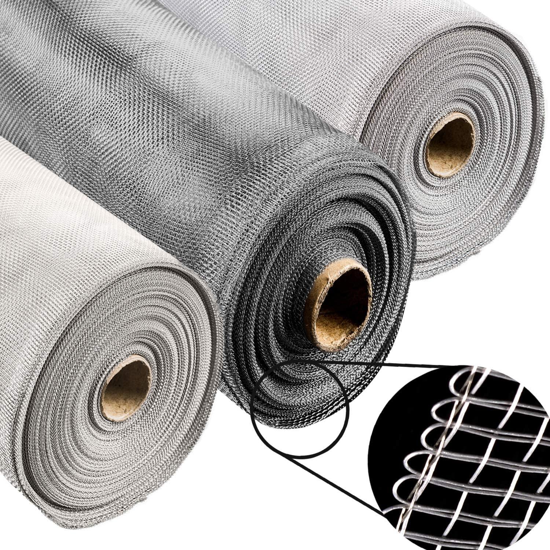 200x150 CM Alu-Gitter Aluminiumgewebe gegen Raten,M/äuse,Fliegen STAHLIA/® ALUMINIUM Fliegengitter Aluminium Insektenschutz L x B