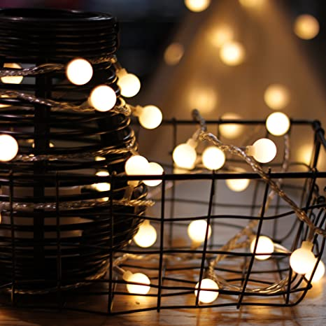 String Globe Lights Interesting Amazon LED String Lights By MyCozyLite Plug In String Lights