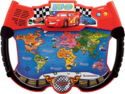 Amazon.com: VTech – Disney s Cars – Lightning Mcqueen Atlas ...