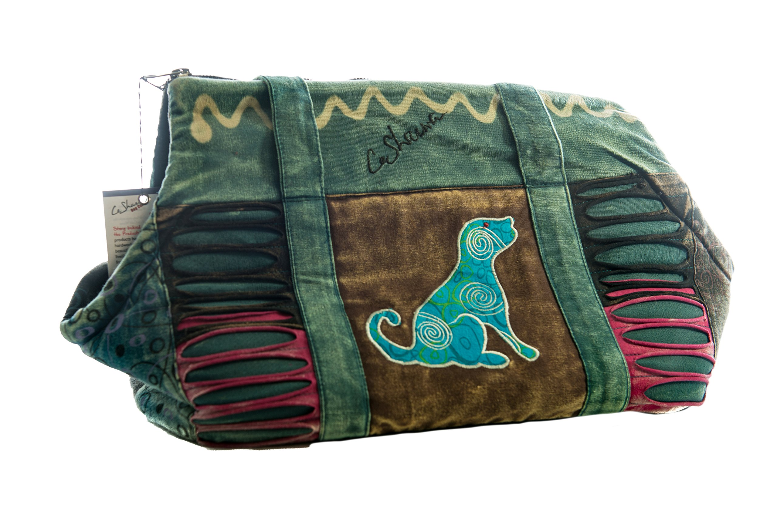 Le Sharma Cotton-Dog Carrier, Handmade with 100% Cotton, Stylish and Practical, Ideal for Small Dogs (LSFCC-06)