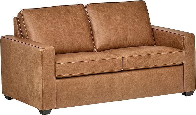Amazon.com: Rivet Andrews - Sofá de piel de grano superior ...