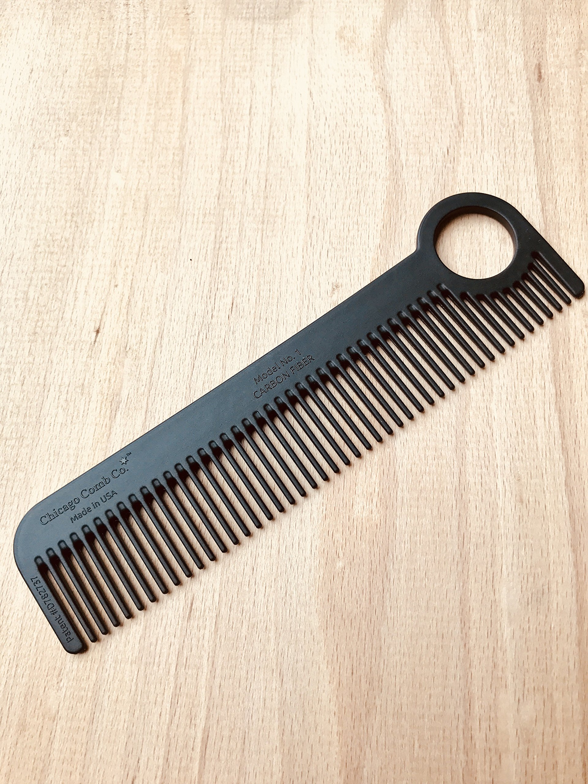 Chicago Comb Model 1 Carbon Fiber, Made in USA, ultra smooth, strong, and light, anti-static, heat-resistant, 5.5 inches (14 cm) long, ultimate daily use, pocket, and travel comb by Chicago Comb (Image #5)