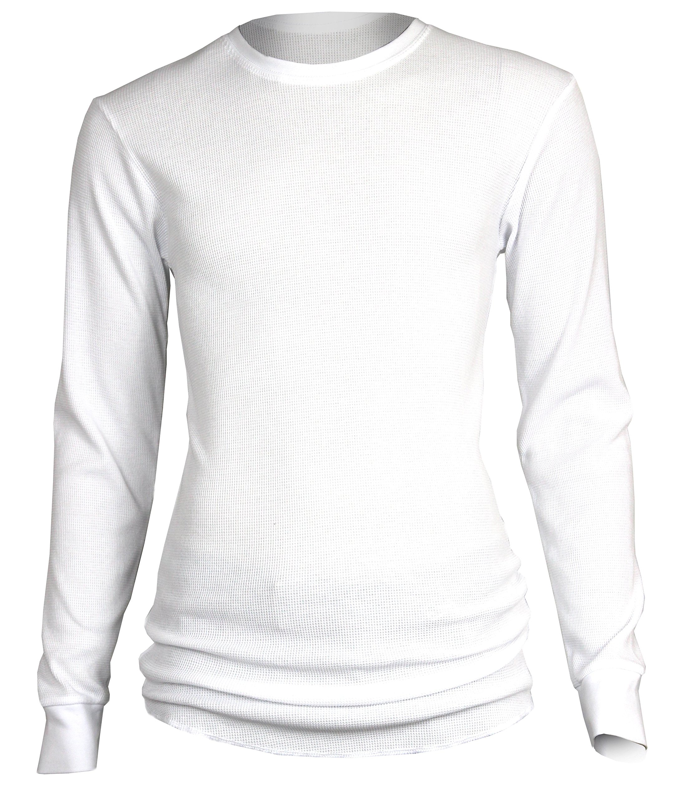 Access Fitted Long Sleeve Thermal Shirt -White-Small