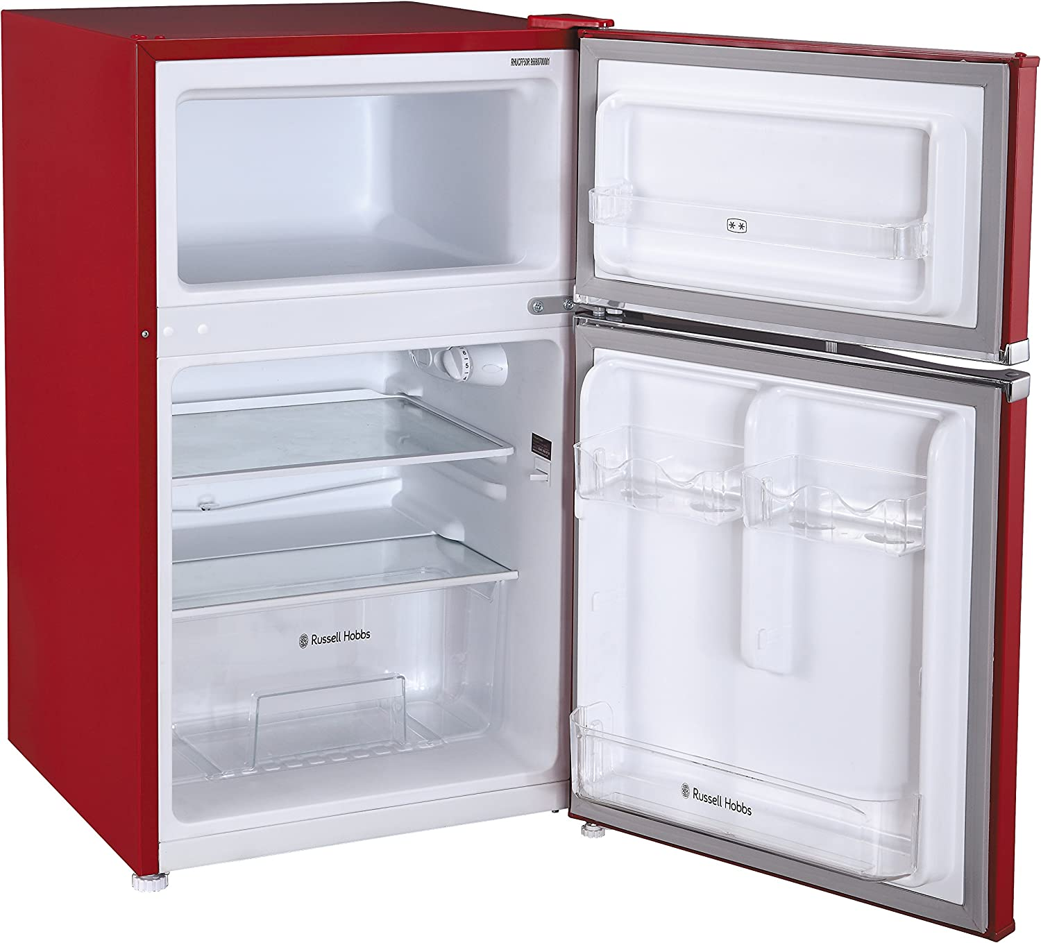 Free 2 Year Guarantee /& RHMM701R 17L Manual 700w Solo Microwave Red Russell Hobbs RHUCFF50R Red 50cm Wide Under Counter Freestanding Fridge Freezer