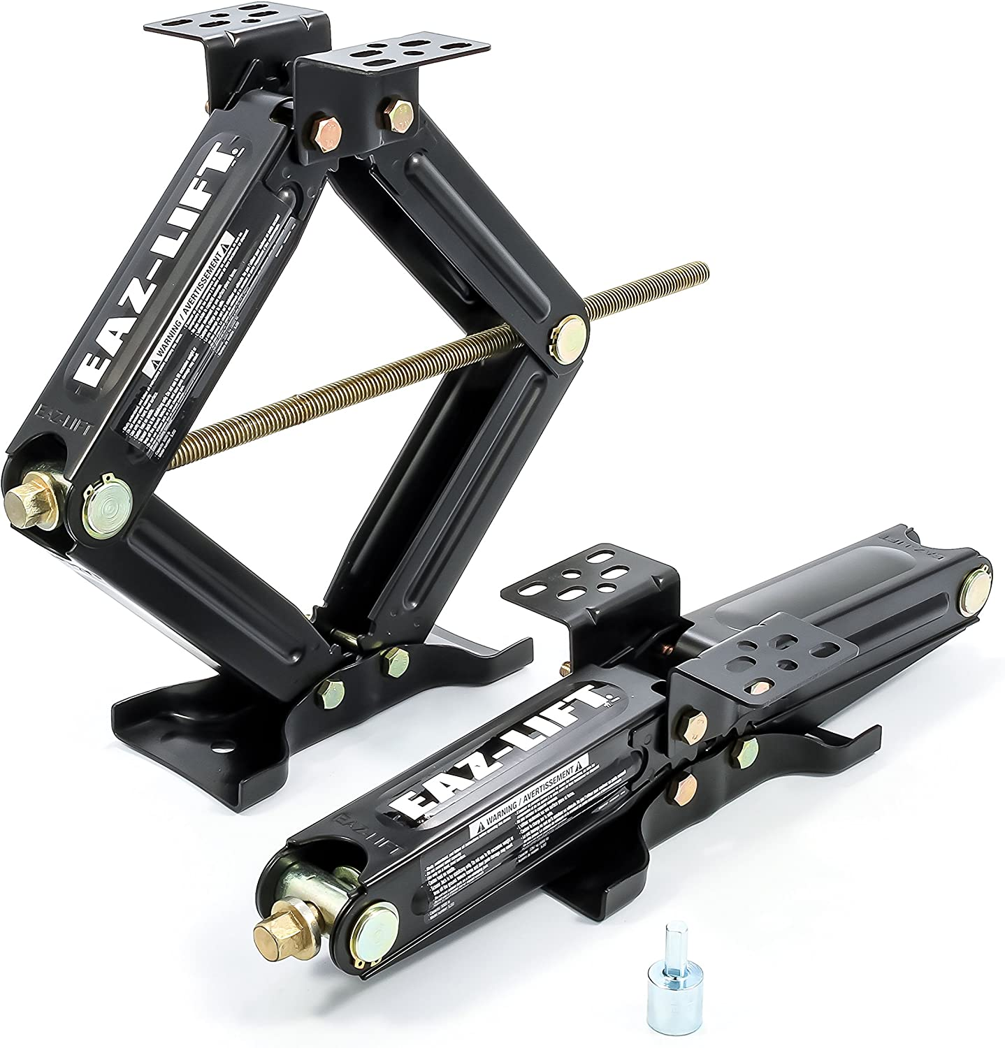 Fits Pop-Up Campers and Travel Trailers 48830 Eaz-Lift 24 RV Stabilizing Scissor Jack Supports Up to 7,500 lb - 2 Pack