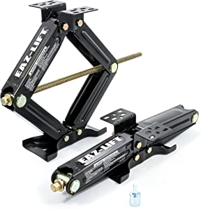 """Eaz-Lift 20"""" RV Stabilizing Scissor Jack, Fits Pop-Up Campers and Travel Trailers - Pack of 2 (5,000lb rating) - 48800"""