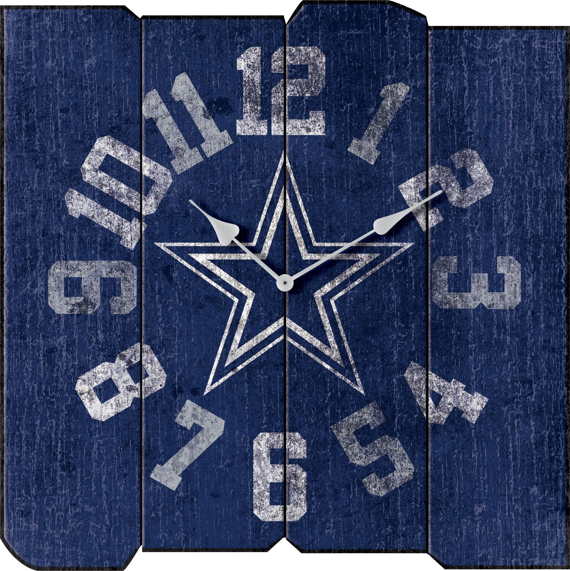 Imperial Officially Licensed NFL Merchandise: Vintage Square Clock, Dallas Cowboys by Imperial