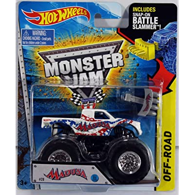 HOT WHEELS 1:64 SCALE 2015 RELEASE BATTLE SLAMMER MADUSA MONSTER JAM MONSTER TRUCK DIE-CAST: Toys & Games