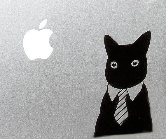 Professional Business Cat in a Tie MacBook Laptop Vinyl Decal Sticker Meme Reddit Tie Suit Kitty Collar Dress Shirt Black Tuxedo