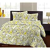 Bombay Dyeing Breeze Plus Collection Flat Double Bedsheet Set, Yellow, 274x274cm