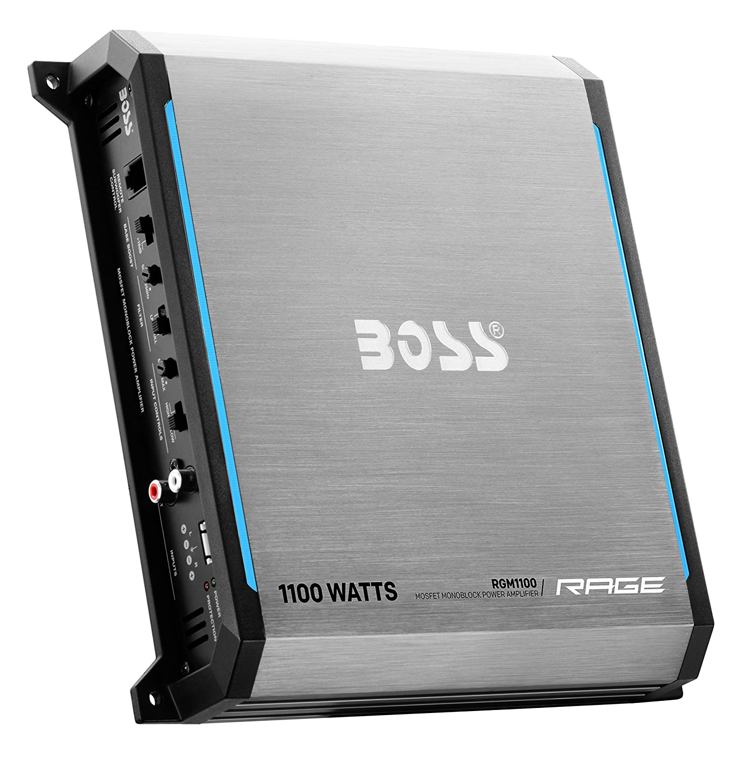 Amazon.com: BOSS AUDIO RGM2000 Rage 2000-Watt Monoblock, Class A/B 2 to 8 Ohm Stable Monoblock Amplifier with Remote Subwoofer Level Control: Car ...