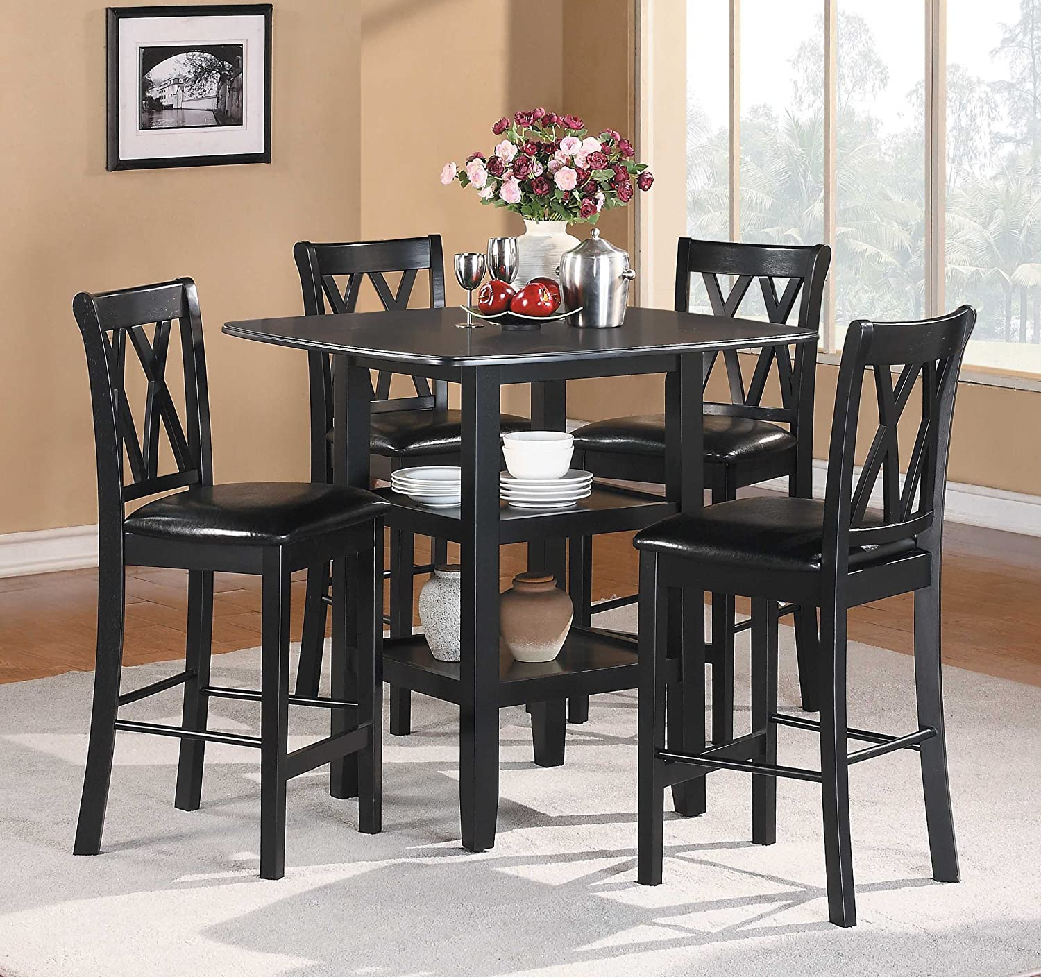 Amazon Homelegance Norman 5 Piece Counter Height Dining Set