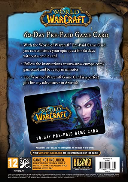 World of Warcraft 60 Day Pre-paid Game Card (PC/Mac): World