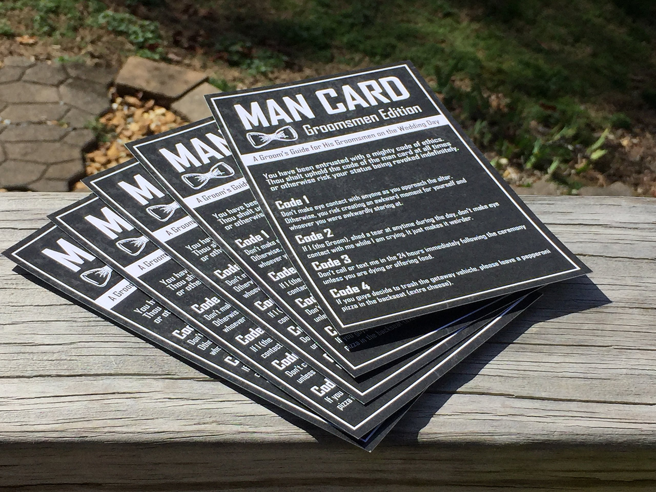 Groomsmen Gifts For Wedding - The Man Card - Groomsmen Edition 6-Pack by Wannabe Genius (Image #2)