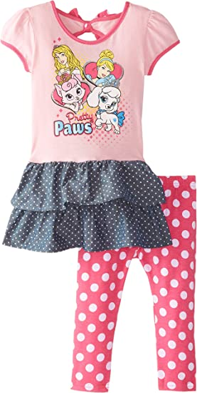 Disney Girls Little 2 Piece Princess Legging Set