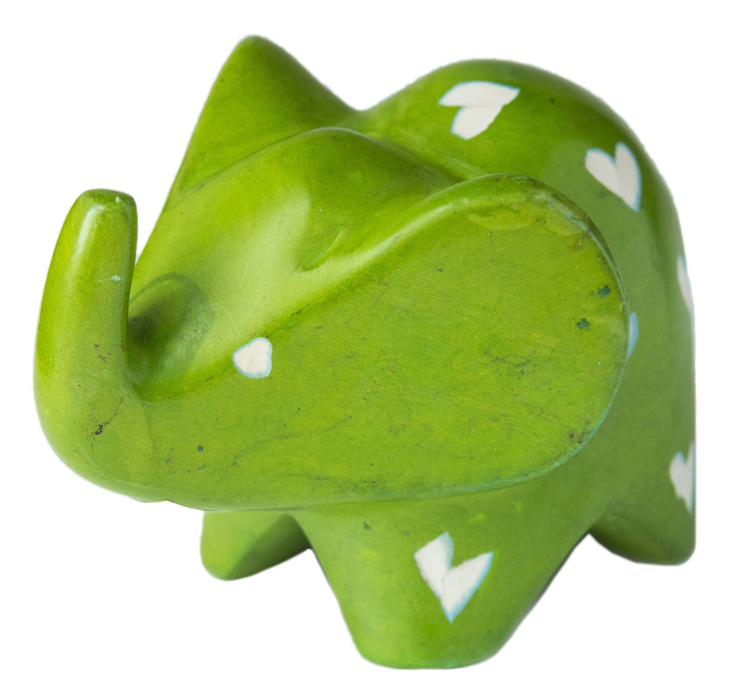 Soap Stone Big Ears Elephant Green