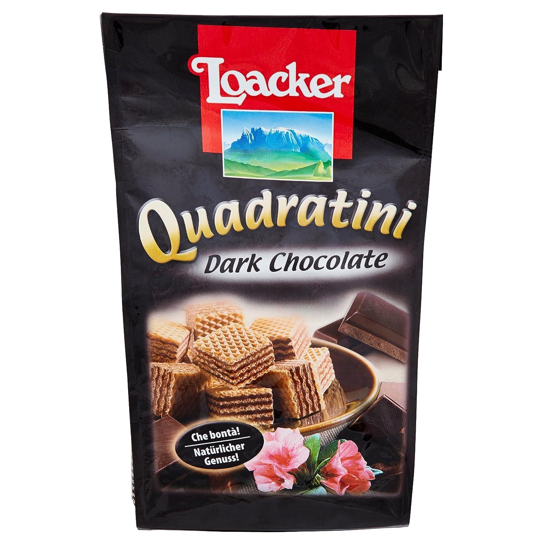 Paquete Galletas Quadratini Dark Chocolate Loacker 125 Gr: Amazon.es: Alimentación y bebidas