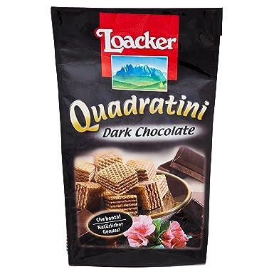 Paquete Galletas Quadratini Dark Chocolate Loacker 125 Gr