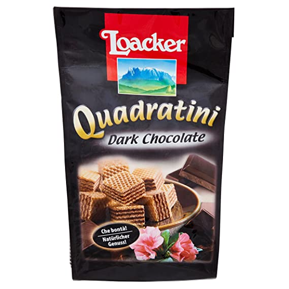 Paquete Galletas Quadratini Dark Chocolate Loacker 125 Gr