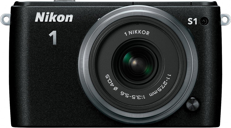 Nikon 1 S1 10.1 MP HD Digital Camera with 11-27.5mm VR 1 NIKKOR Lens (Black)