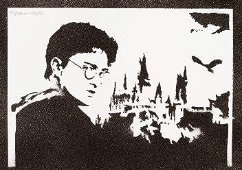 Póster Harry Potter Grafiti Hecho A Mano - Handmade Street Art - Artwork