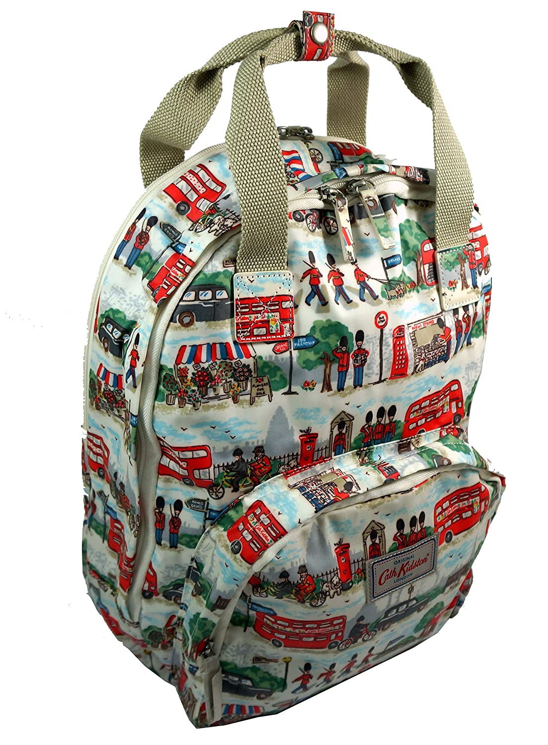 79a5e76032aea Amazon.com: Cath Kidston Matt Oilcloth Multi Pocket Backpack ...