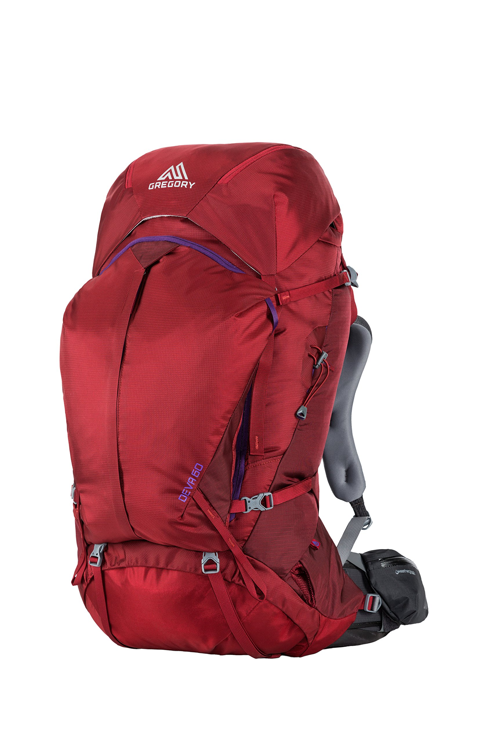 Gregory Mountain Products Deva 60 Liter Women's Backpack, Ruby Red, Medium
