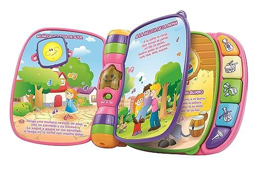 VTech - Primeras Canciones, Libro Musical, Color Rosa (3480-166757): Amazon.es: Juguetes y juegos