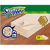 Swiffer Boden-Staubtücher für Holz und Parkett , Nachfüllpackung, 6er Pack (6 x 18 Tücher)