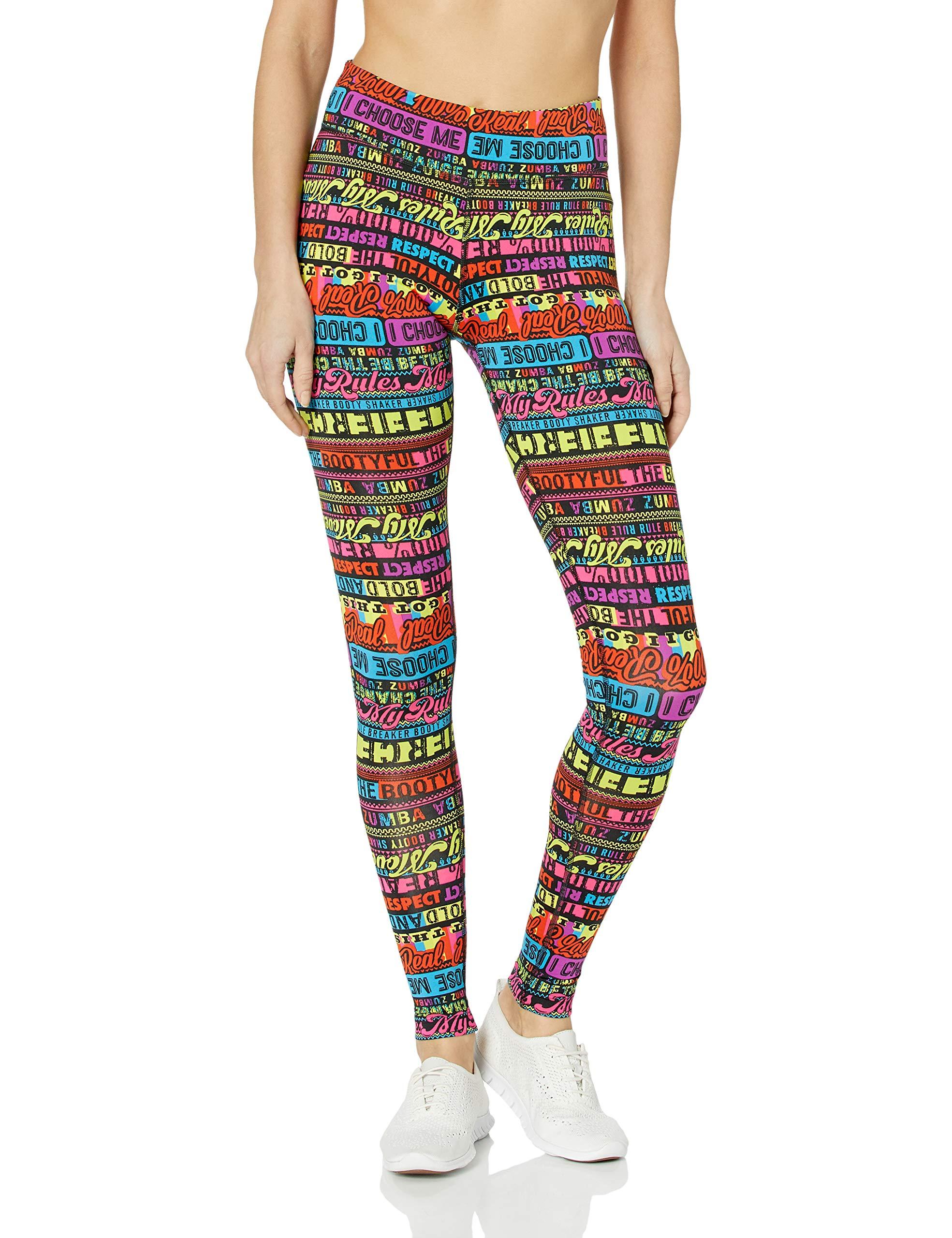 11b5f2dcbc5 Zumba Women s Wide Waistband Print Capri Legging with Compression product  image