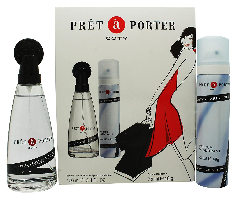 Pret a Porter by Coty Eau de Toilette Spray 100ml & Body Spray 75ml 3614223150571