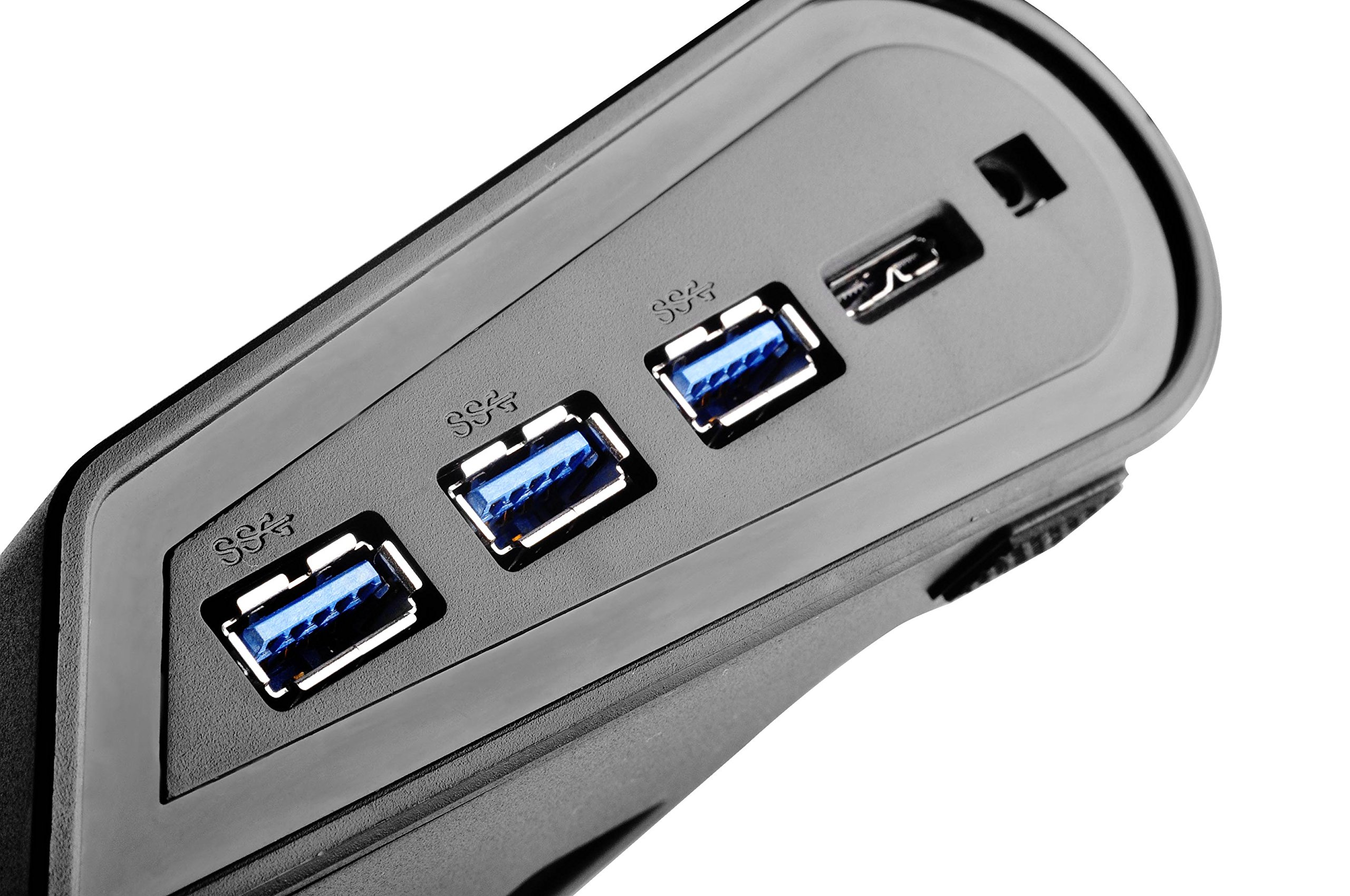 Silverstone Tek Multifunctional Laptop Cooler with Crossflow Fan, Networking Capabilities and 3x SuperSpeed USB 3.0 Ports (NB05B) by SilverStone Technology (Image #3)