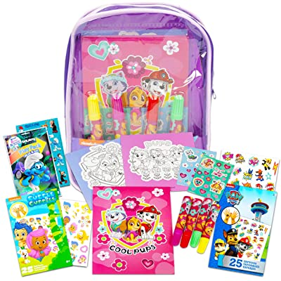 Paw Patrol Bag with Activity Set ~ Paw Patrol Super Activity Set Bundle Includes Sketch Pad, Posters, Stickers, and More (Coloring and Activity Books for Girls): Office Products