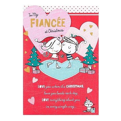 Auguri Di Natale Alla Fidanzata.Hallmark Biglietto Di Auguri Di Natale Per Fidanzata Love You