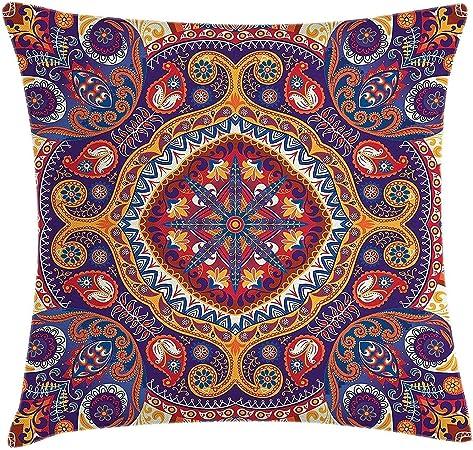 Cuscini Arabi.Dutars Paisley Decor Federa Per Cuscino Arabo Ornamentali Tappeto