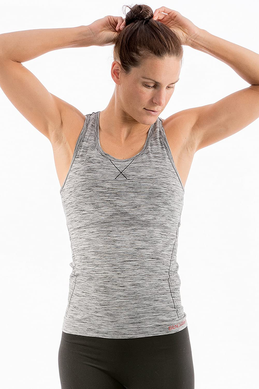 Alte-Stretch Gym Yoga Maglia delle Donne Senza Saldatura per lallenamento Sport Fitness Made in Italia Sundried Leggero