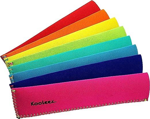 Kooleez - #1 THE ORIGINAL Neoprene FULL LENGTH Freezer Pop Sleeves Ice Pop Sleeves 8-Pack